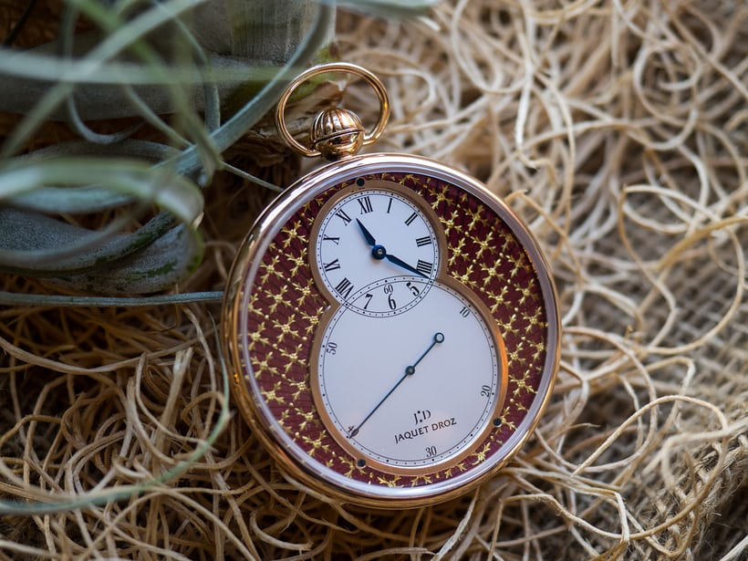 Jaquet Droz Pocket Watch Paillonée