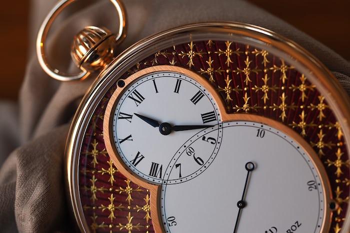 Jaquet Droz Pocket Watch Paillonée hour and minute hands
