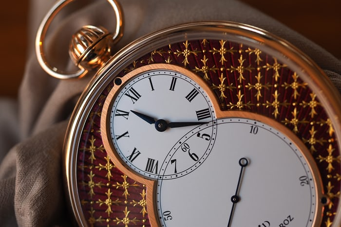 Jaquet Droz Pocket Watch Paillonée hour and minute hands