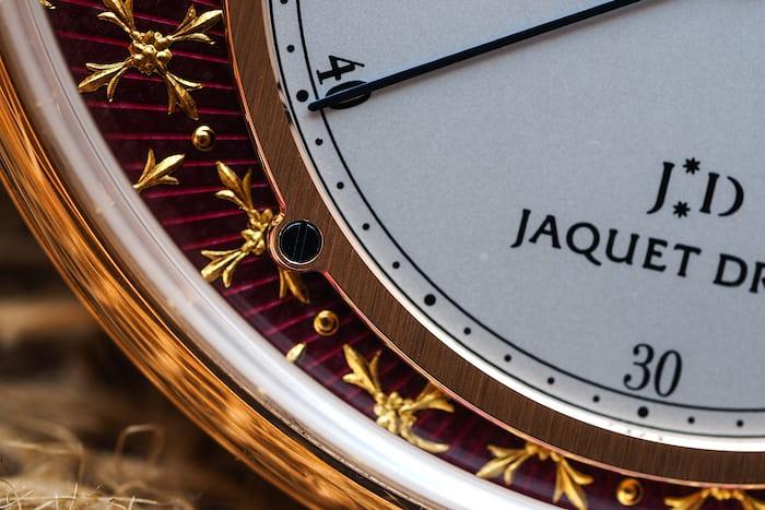Jaquet Droz Pocket Watch Paillonée gold dial surround