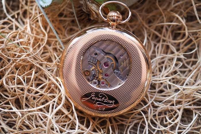 Jaquet Droz Pocket Watch Paillonée movement