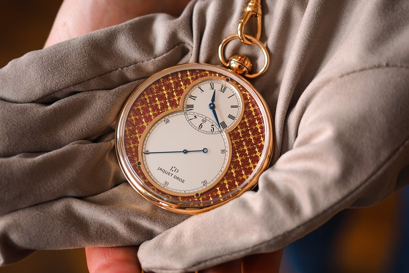 Jaquet Droz Pocket Watch Paillonée hand-held