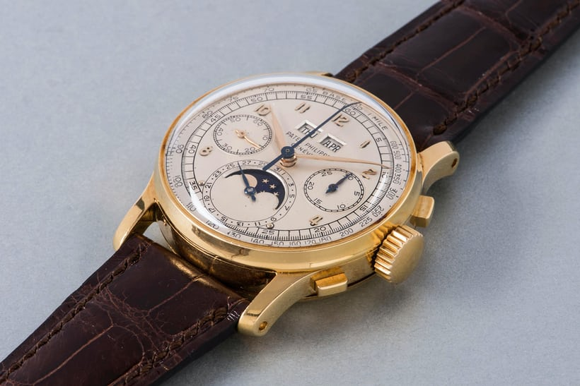yellow gold patek philippe 1518