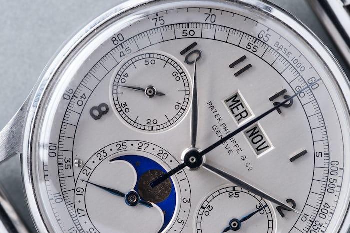 patek philippe stainless steel 1518 dial