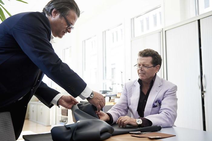 Zenith CEO Aldo Magada (left) and Land Rover Chief Design Officer, Gerry Mcgovern.