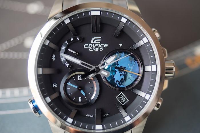 Edifice EQB-600 dial closeup