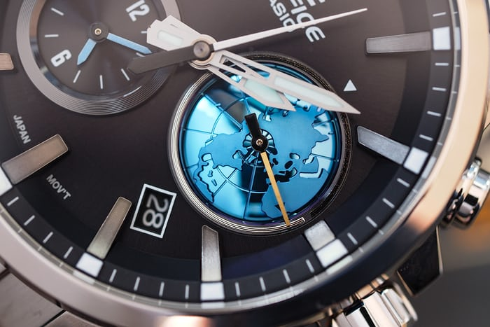 Edifice EQB-600 second time zone globe