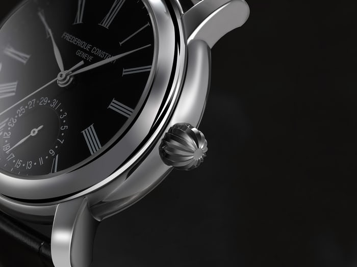 Frederique Constant Classic Manufacture crown closeup