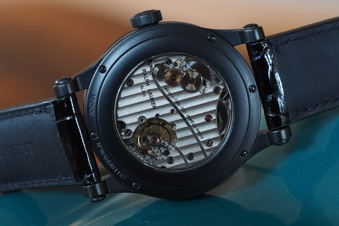 The Ralph Lauren Automotive 39mm movement Jaeger LeCoultre