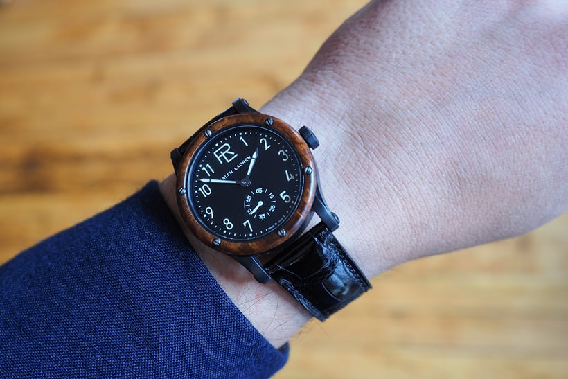 The Ralph Lauren Automotive 39mm wrist shot