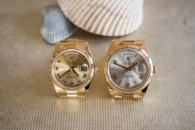 Day Date gold 36mm and 40mm