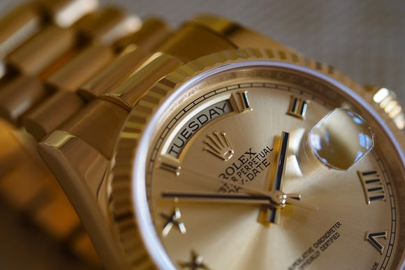 Yellow gold Rolex Day-Date, 36mm
