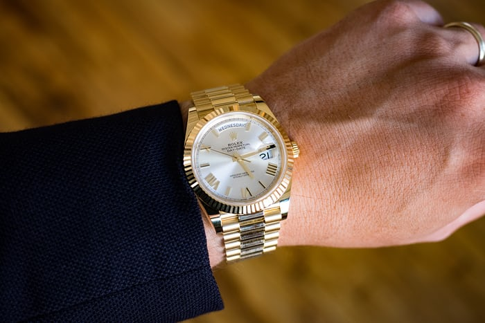 Rolex 40mm day date, wrist shot