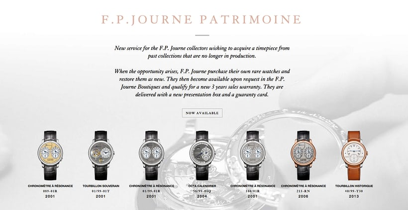 fp journe certified pre owned patrimoine