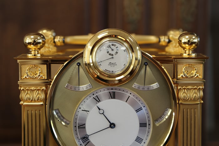 breguet sympathique clock watch dock