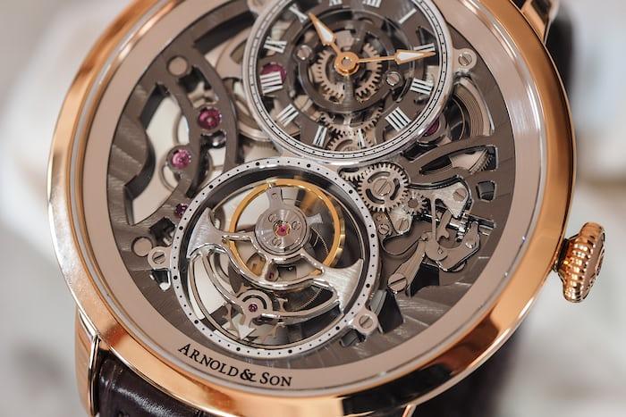 Arnold & Son UTTE Skeleton Tourbillon dial closeup
