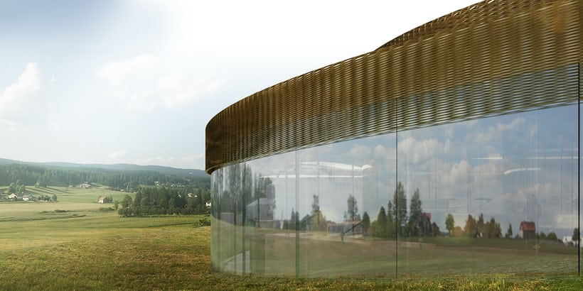 audemars piguet maison des fondateurs glass wall exterior