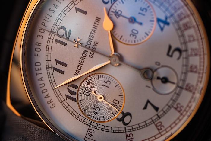 Vacheron Constantin Harmony Chronograph dial closeup