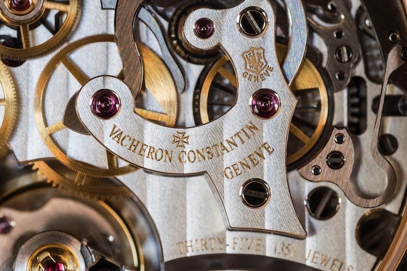 vacheron caliber 3300 closeup chronograph bridge