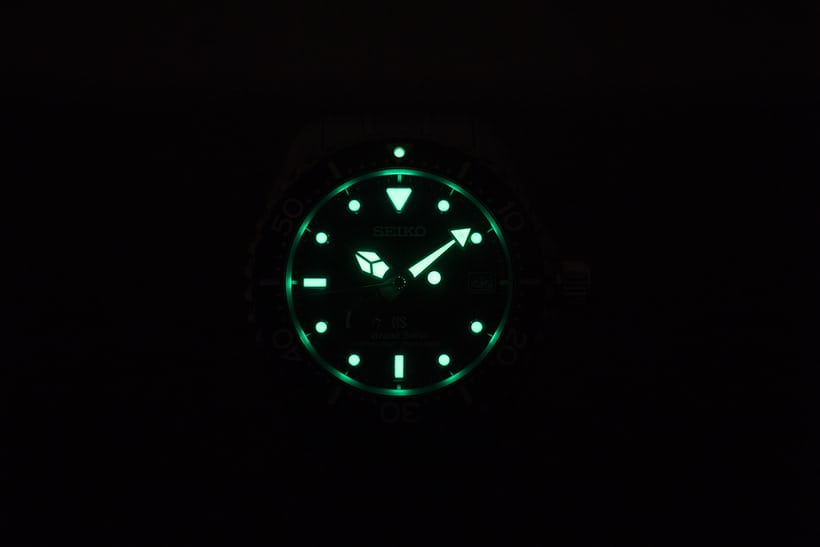 Grand Seiko SBGA029 lume shot