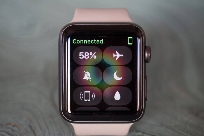 Apple Watch Series 2 Control Center