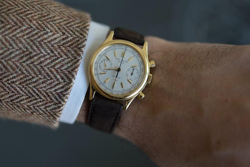 patek cartier 1463 wrist shot