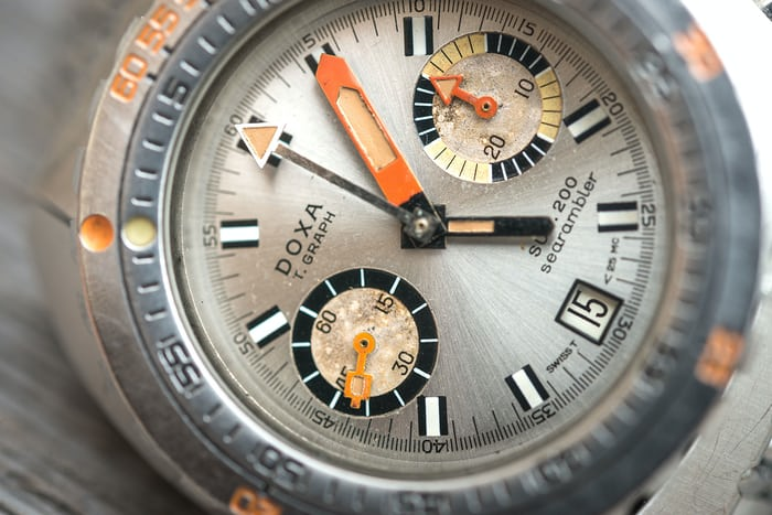 DOXA SUB 200 T-Graph Dial Close-up