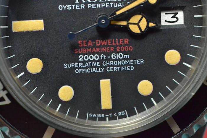 Rolex Sea-Dweller DRSD dial