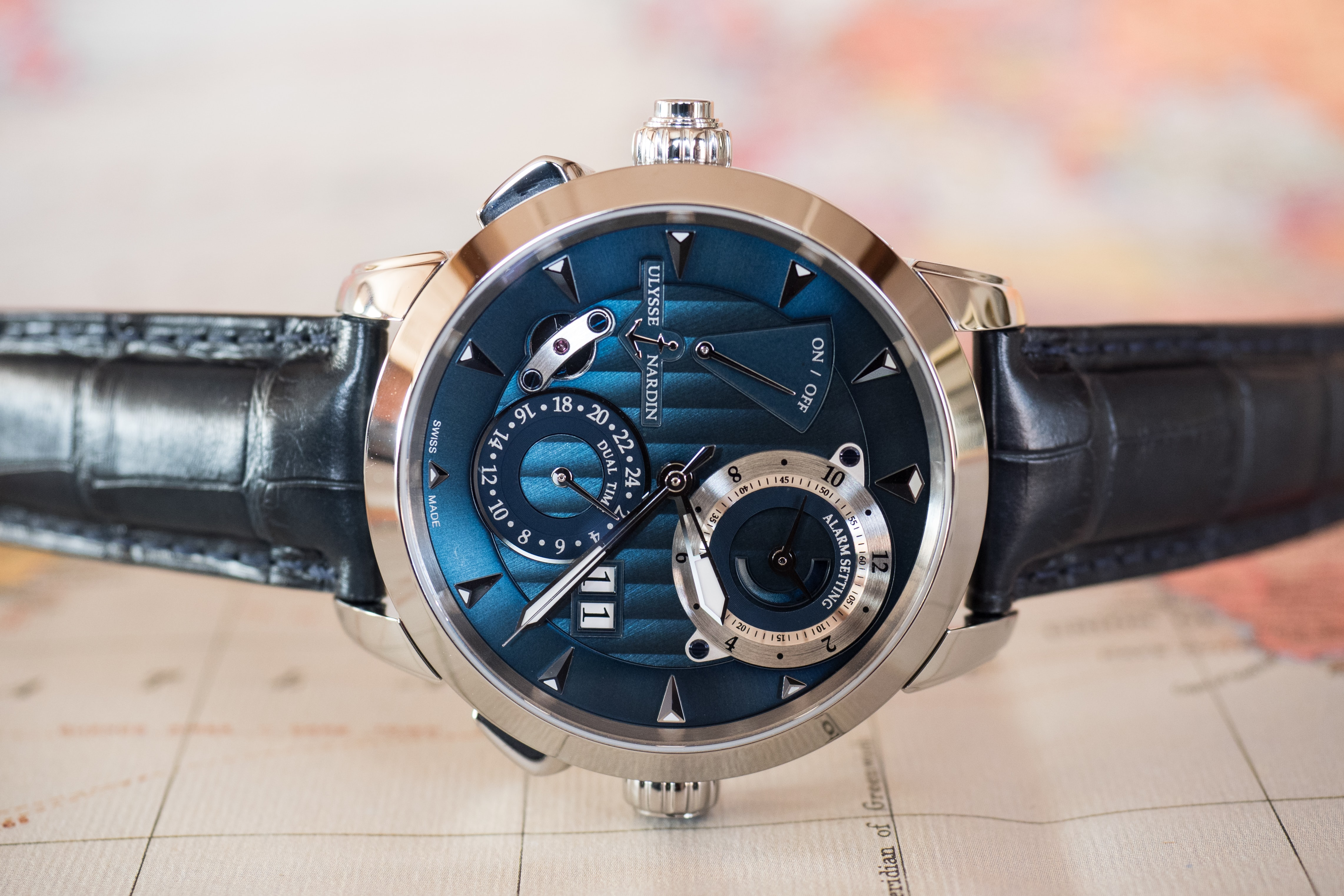 Ulysse Nardin Classic Sonata dial Hands-On: The Ulysse Nardin Classic Sonata, A Self-Winding Alarm Watch With A Cathedral Gong (And More) Hands-On: The Ulysse Nardin Classic Sonata, A Self-Winding Alarm Watch With A Cathedral Gong (And More) PA190328