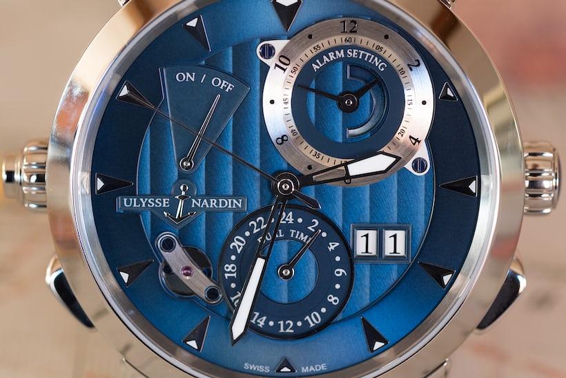 Ulysse Nardin Classic Sonata dial closeup