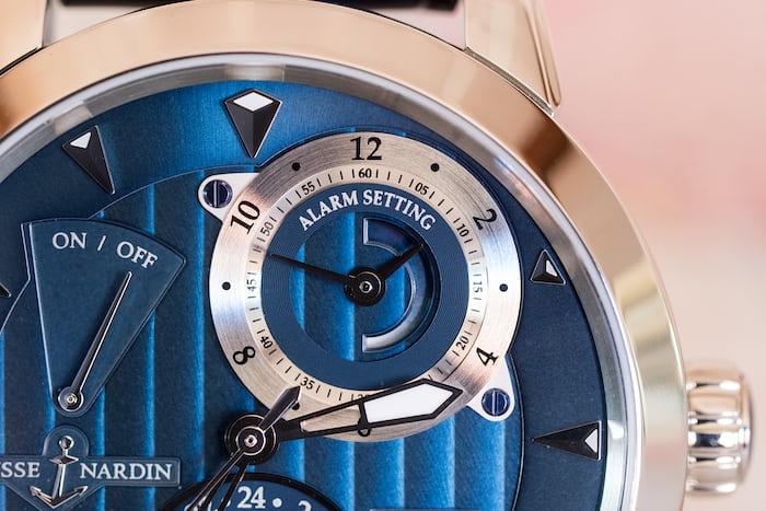 Ulysse Nardin Classic Sonata alarm setting sub-dial