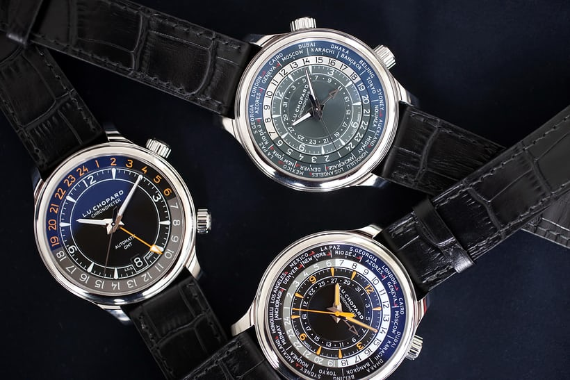 The three novelties from Chopard (missing, the rose gold version of the L.U.C Travel Time One).