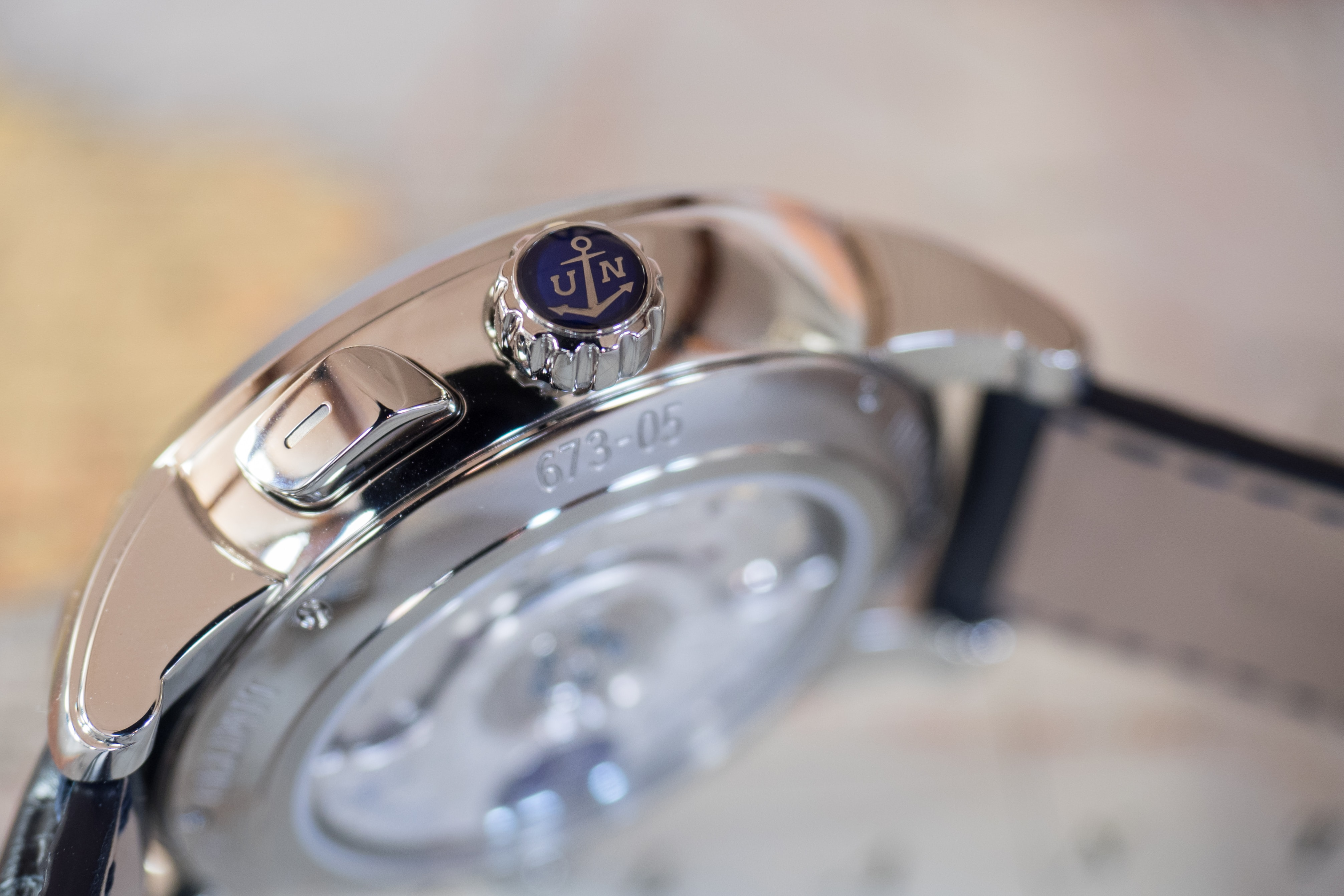 Ulysse Nardin Classic Sonata crown Hands-On: The Ulysse Nardin Classic Sonata, A Self-Winding Alarm Watch With A Cathedral Gong (And More) Hands-On: The Ulysse Nardin Classic Sonata, A Self-Winding Alarm Watch With A Cathedral Gong (And More) PA190340