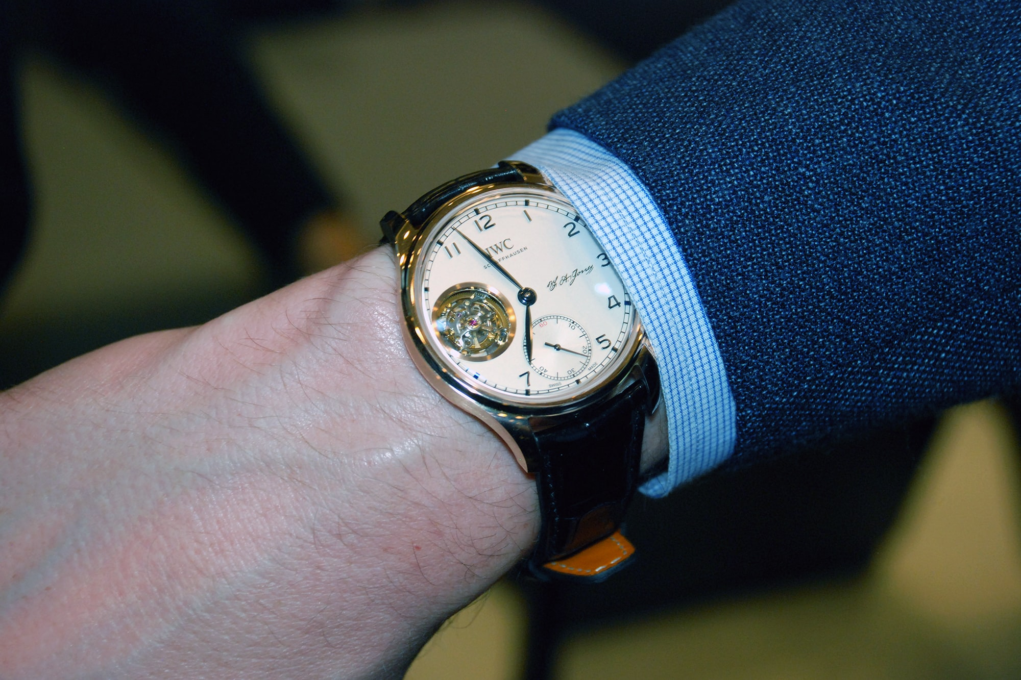 Photo Report: HODINKEE And IWC Celebrate The Portugieser Hand-Wound Tourbillion Edition 'D.H. Craig USA' In New York Photo Report: HODINKEE And IWC Celebrate The Portugieser Hand-Wound Tourbillion Edition 'D.H. Craig USA' In New York 0077 copy