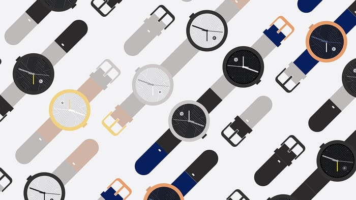 objest automatic watch colors