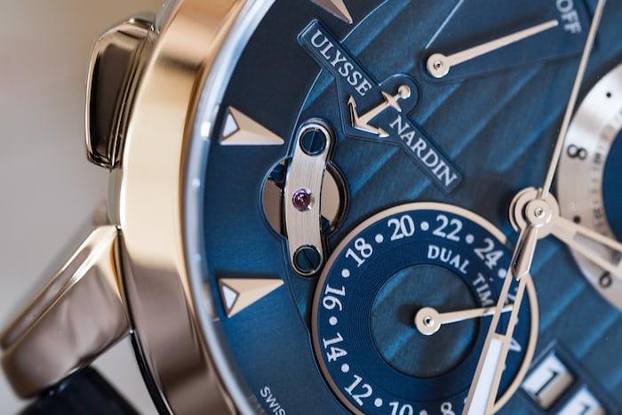 Ulysse Nardin Classic Sonata dial closeup inertial governor