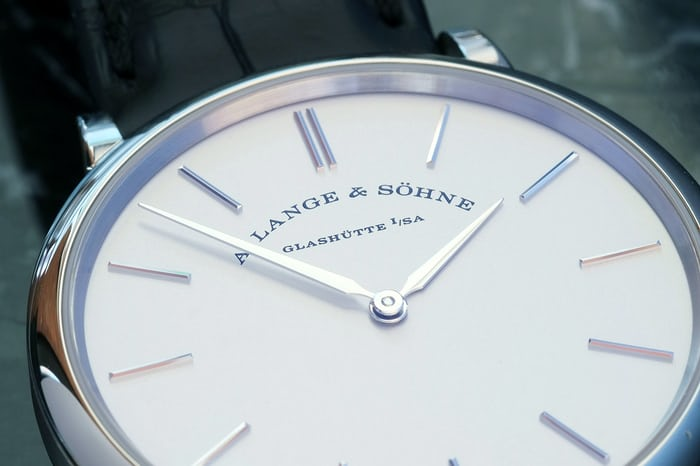 lange sohne saxonia thin dial markers
