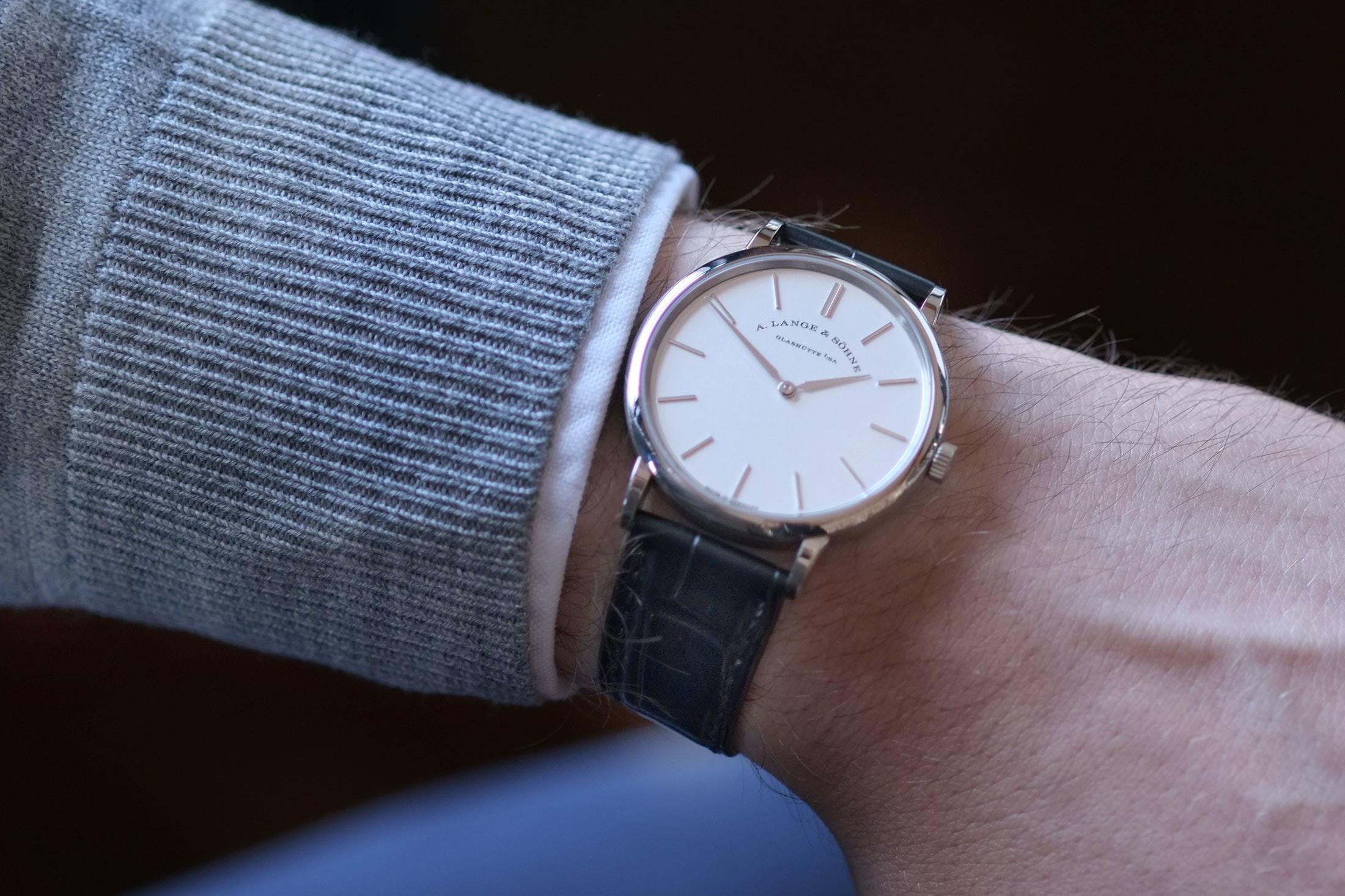 saxonia thin wristshot lange sohne A Week On The Wrist: The A. Lange & Söhne Saxonia Thin 37mm A Week On The Wrist: The A. Lange & Söhne Saxonia Thin 37mm lange saxonia 03