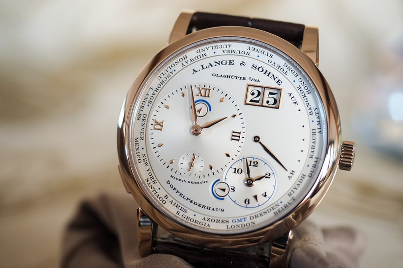 A. Lange & Söhne Lange 1 Time Zone Honey Gold dial