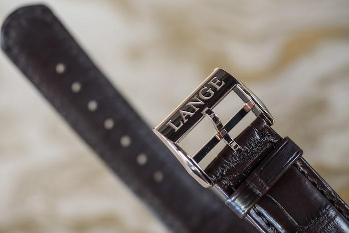 Lange & Söhne Lange 1 Time Zone Honey Gold buckle