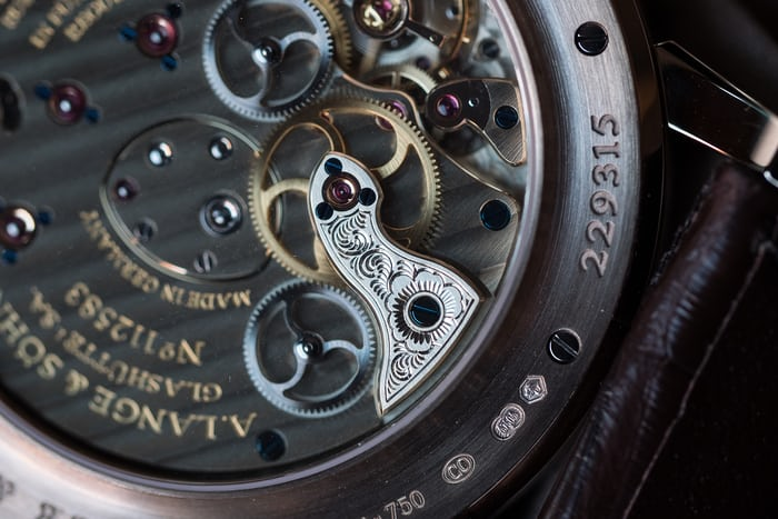 A. Lange & Söhne additional movement cock