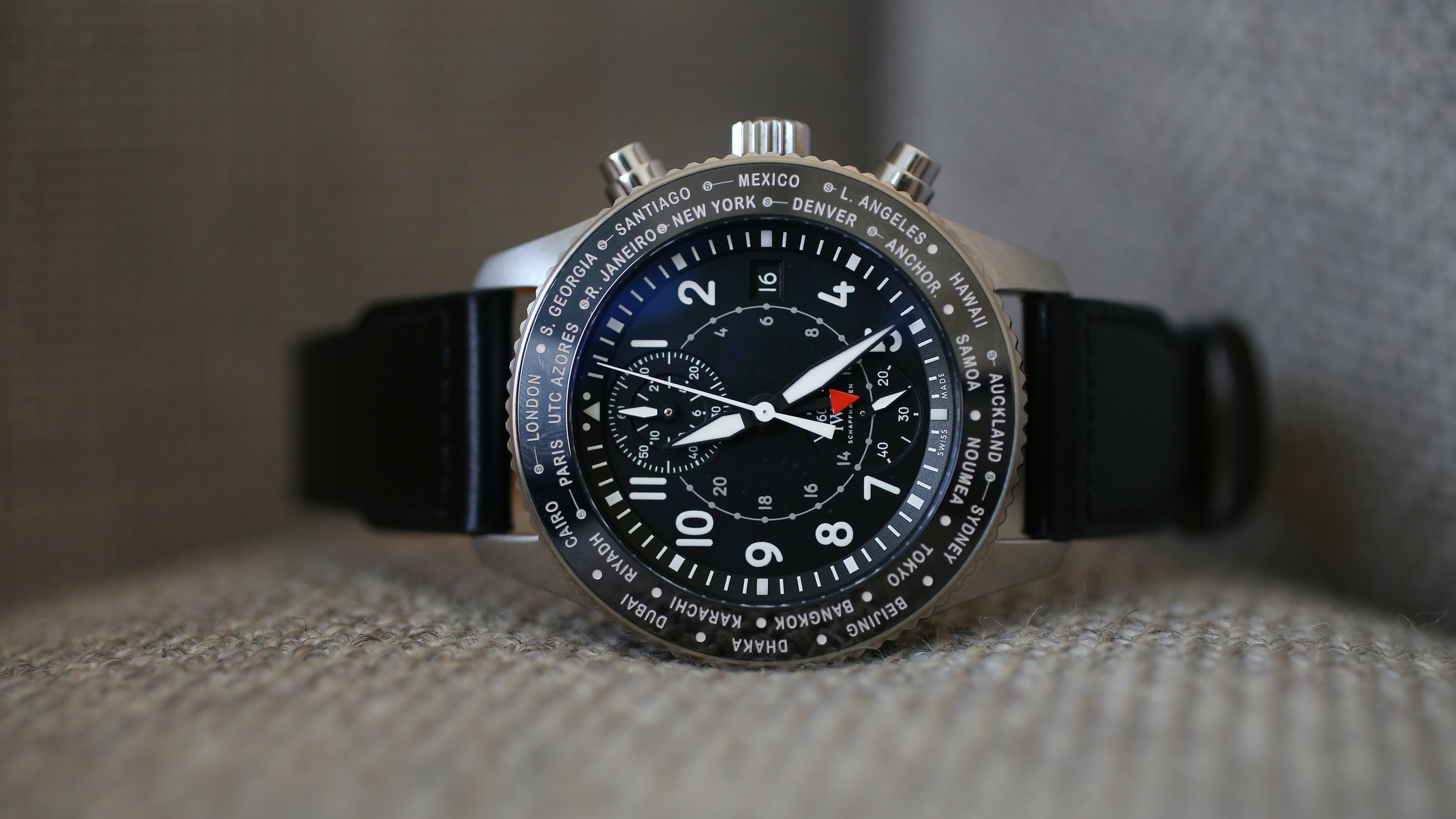 Hands-On: The IWC Pilot's Watch Timezoner Chronograph 3950