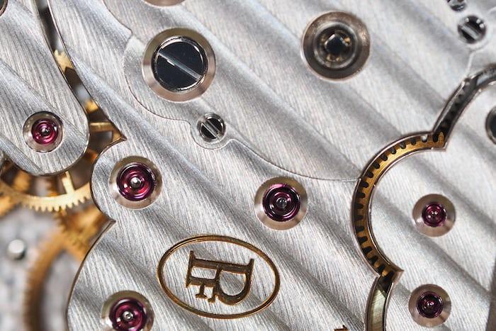 Parmigiani Fleurier Pantographe movement finish closeup
