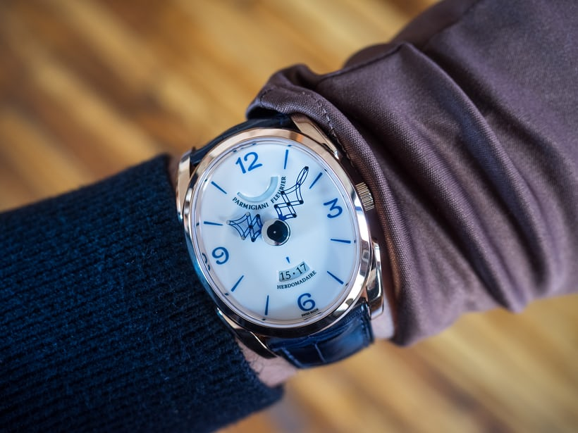 Parmigiani Fleurier Pantographe wrist shot