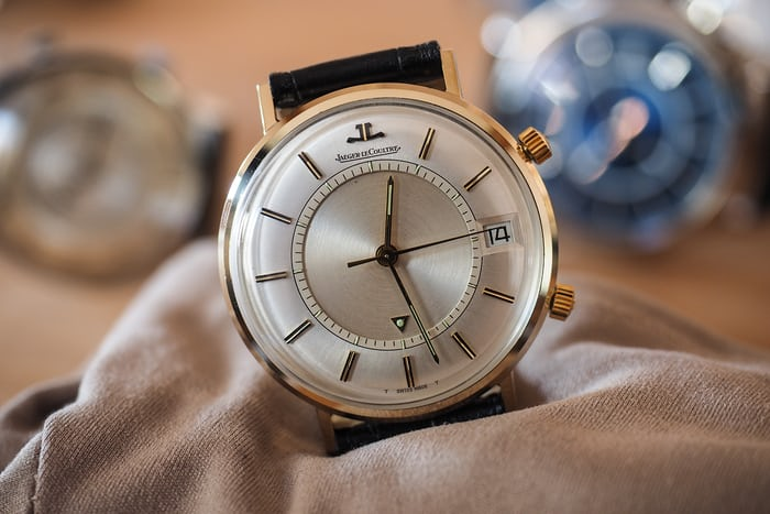 Jaeger Lecoultre vintage Memovox, hand-wound caliber 911, 1958.