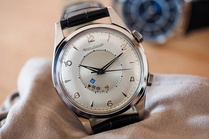 """Jaeger Lecoultre vintage Memovox """"Parking Alarm"""" with hand-wound caliber 814"""