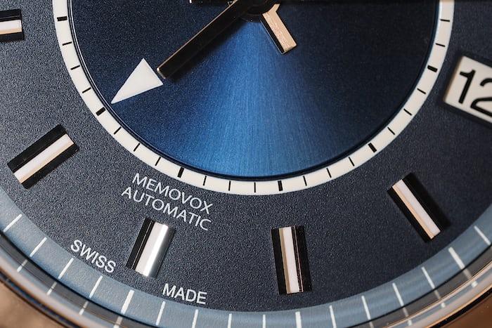 Jaeger-LeCoultre Master Memovox Boutique Edition dial closeup