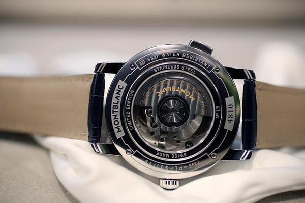 The Montblanc Orbis Terrarum Special Edition Great Britain caseback