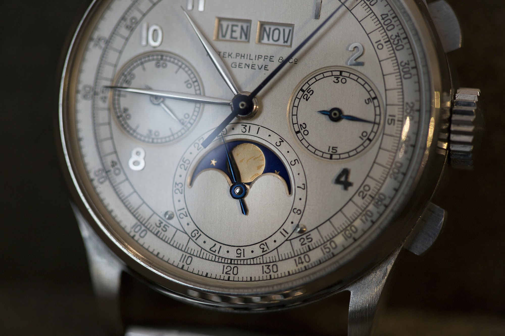 Patek Ref. 1518 in steel Record-Breaking Patek Philippe 1518 Steals The Show, But Results Show A Mixed Bag At Phillips' Geneva Watch Auction: Four Record-Breaking Patek Philippe 1518 Steals The Show, But Results Show A Mixed Bag At Phillips' Geneva Watch Auction: Four 20014332 copy