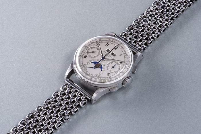 The 1518 from Patek Philippe, introduced in 1941, was Patek's first perpetual calendar with chronograph, ever.
